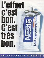 Publicité 2001  NESTLE  lait concentré sucré