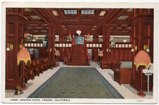 Postcard Lobby at Sequoia Hotel in Fresno, California~105876