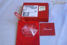 BACCARAT Crystal Snowflake Ornament Numbered UNICEF Rare Christmas Boxed