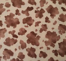 Cow Hide Print Faye Burgos for Marcus Brothers BTY Brown Light Tan Cowhide