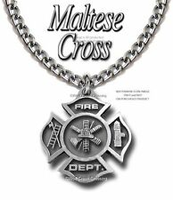 """LARGE PROUD FIRE FIGHTER NECKLACE FIREMAN FIREFIGHTER RESCUE HEAVY 24"""" CHAIN P z"""