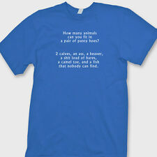 How Many Animals In Pair Panty Hoes Rude Party T-shirt Funny Sex Tee Shirt