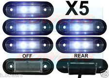 5x 12v/24v Flush Fit blanco de LED marcador lamps/lights kelsa Bar Daf, Scania Volvo