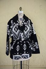 Vtg Pendleton Wool Blanket Coat Jacket Aztec Native American Southwestern