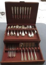 93 Pc Huge Complete Set Georg Jensen Sterling Silver No 3 Flatware USA Serve Box