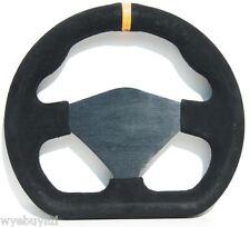 250mm M range blank centre flat motorsport racing steering wheel in black suede