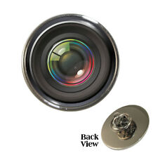Camera Lens Design Metal Pin Badge optical photography optics focus NEW
