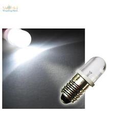10 e10 LED-lámparas schraubsockel Weiss 12v LEDs pera bombilla e-10 12 voltios
