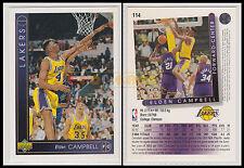 NBA UPPER DECK 1993/94 - Elden Campbell # 114 - Lakers - Ita/Eng - MINT