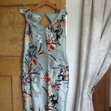 Monsoon satin embroidered dress size 10