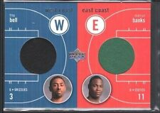 TROY BELL MARCUS BANKS 2003/04 UPPER DECK EAST WEST COAST DUAL JERSEY SP $15