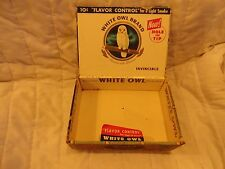 "VINTAGE WOODEN CIGAR BOX, ""WHITE OWL BRAND"", INVINCIBLES, TAX STAMP INTACT -10c"
