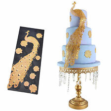 3D Peacock Lace Fondant Mold Candy Cake Baking Paste Decorating Mould DIY Tools