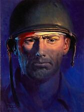 PAINTINGS PORTRAIT 1944 WOUNDED SOLDIER ART POSTER PRINT LV3296