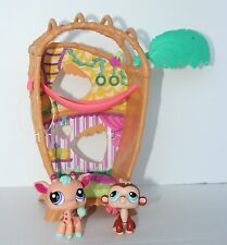 LITTLEST PET SHOP Bamboo Swing Hammock Monkey and Giraffe