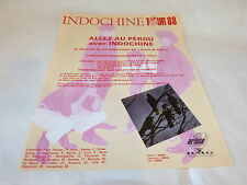 INDOCHINE - Publicité de magazine / Advert !!! TOUR 88 !!!