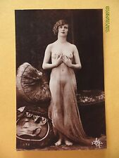 Original French 1910's-1920's Nude Risque Postcard Angelic Lady (#22)
