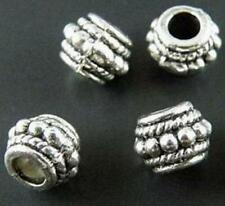 70pcs Tibet Silver Tone Round Dots Spacer Beads Charms 8x6mm zn771