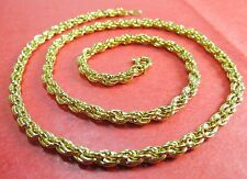 "New 14k Karat Gold Filled Rope 18"" Chain Necklace"