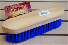 HILASON WESTERN HORSE GROOMING DANDY MEDIUM BRISTLE BRUSHES WITH WOOD BLOCK