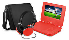"Ematic EPD707RD Portable DVD Player - 7"" Display - 480 x 234 - DVD-R, CD-R - Red"