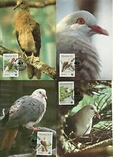 1985 ENDANGERED SPECIES- PINK PIGEONS MAXI CARDS FULL SET MINT CANCELLED