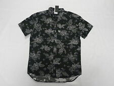 Quiksilver Dark Ritual Collection Dark Garden Woven Shirt Modern Fit Sz Medium