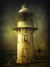 LIGHTS OUT LIGHT HOUSE SEASCAPE MOODY PHOTO ART PRINT POSTER PICTURE BMP512A