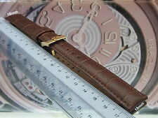 NEW REPLACEMENT #18mm BROWN LEATHER BAND & GOLD BUCKLE FOR OMEGA WATCH