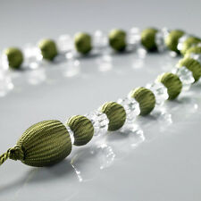 1 x Green Modern Earl Designer Beaded Rope Curtain Tie Back Tieback