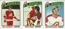 11 1976-77 TOPPS HOCKEY ATLANTA FLAMES CARDS (CLEMENT/LYSIAK/BOUCHARD+++)