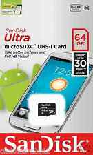 Sandisk Ultra 64GB Micro SDXC UHS-I Class 10 Flash TF Card Memory Card
