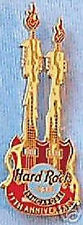 Hard Rock Cafe SINGAPORE 2001 11th Anniversary PIN Double Neck GUITAR HRC #8850