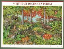 {BJ stamps} #3899  Northeast Deciduous Forest.  MNH 37¢ sheet of 10. Issued 2005
