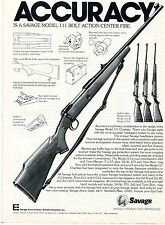 1977 Print Ad of Savage Model 111 & 110-C-B-E Bolt Action Rifle accuracy