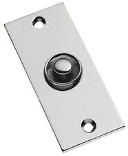 Polished Chrome Plain Rectangular Victorian style Door Bell Push Switch (BC749)