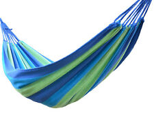 Double 2 Person Hammock Green Fabric 450lb Air Hanging Swinging Outdoor Camping