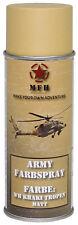 MFH Bombe peinture militaire en aérosol KHAKI TROPEN MAT Army Paint Spray 400mL