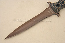 FOX Knife FX-508 Modras Dagger Knife - Black & Brown G10 & N690Co SS