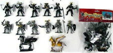 Toy Soldiers Knights Dragon Playset 12 Painted Plastic Figures 2 Horses 1/32
