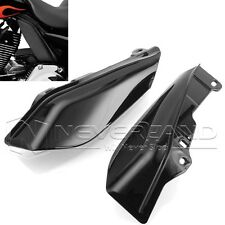 Black ABS Mid-Frame Air Deflectors For Harley Touring Electra Street Glide FL