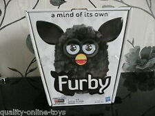 ***BOXED 2012 NEW GENERATION ALL BLACK FURBY FURBIE ELECTRONIC PET***VGC