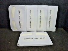 TOUGH GUY TOILET SEAT COVERS, 5 PACKS OF 250, FLUSHABLE, DISPOSABLE, 2VEX6A