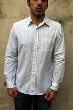 POLO JEANS COMPANY Ralph Lauren Mens Casual Shirt Striped Long Sleeved M Medium