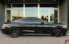 "22"" RF15 Staggered Black Wheels For Mercedes S400 S550 S600 S63 S65 Concave (4)"