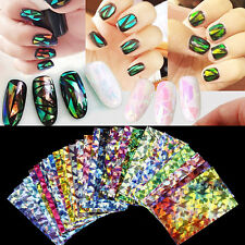 Nail Art Transfer Sticker Decal Rainbow Beauty Foil Galaxy DIY Gel Tips Wrap Hot
