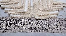 BANQUET Tablecloth Linen, Point de Venise & Reticella Lace FAUN & GOAT, 12 Naps