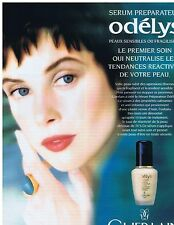 PUBLICITE ADVERTISING 104 1996 GUERLAIN sérum prépérateur Odèlys