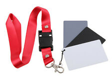 3 in 1 Digital Grey Card White Black 18% Gray Color Balance Strap For SLR Camera