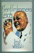Leica Kleinbildkamera Blechschild Schild Blech Metall Metal Tin Sign 20 x 30 cm
